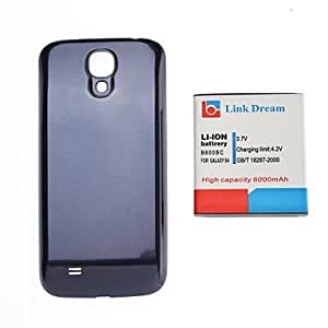 Link Dream 3.7V 6000mAh Thickened Cell Phone Battery + Blue Back Cover for S4 i9500 I545 I337 L720 M919 R970 (B600BC)