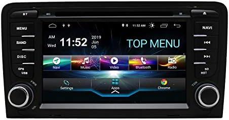 Swtnvin Android 10 0 Auto Audio Stereo Kopfeinheit Passt Für Audi A3 Dvd Player Radio 7 Zoll Hd Touchscreen Gps Navigation Mit Bluetooth Wifi Lenkradsteuerung 2gb 16gb Navigation