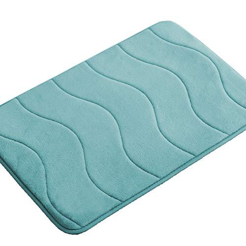 Memory Foam Bathroom Kid's Rug Mat, Slip-Resistant Extra Absorbent Bath Mat Set Non Slip Dry Fast Bath Mat Extra Soft and Absorbent, Machine-Washable Non-Slip Bath Rugs(Green, 20″ x 32″)