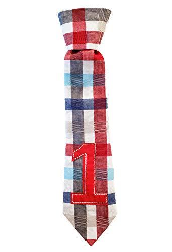 1st Birthday Boy Tie 1 B-Day Neck Tie Boys First One Plaid Necktie Checkered Cake Smash Party