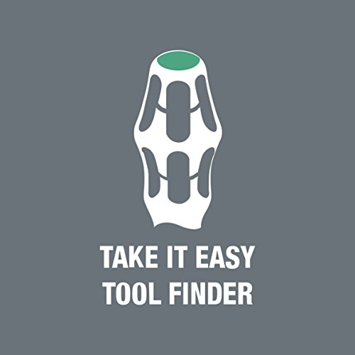 Wera 05032060001 Kraftform Stainless 3334/6 Stainless Steel Slotted/Phillips Screwdriver Set and Rack, 6-Piece by Wera (Image #4)