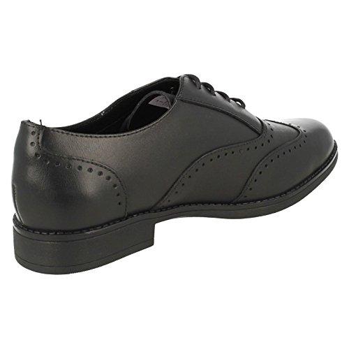 Clarks Girls School-Schuhe Sami Bl Leder In Schwarz Schwarz