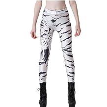 JOYHY Women's High Waist Digital 3D Printed Leggings Pants Footless Tights