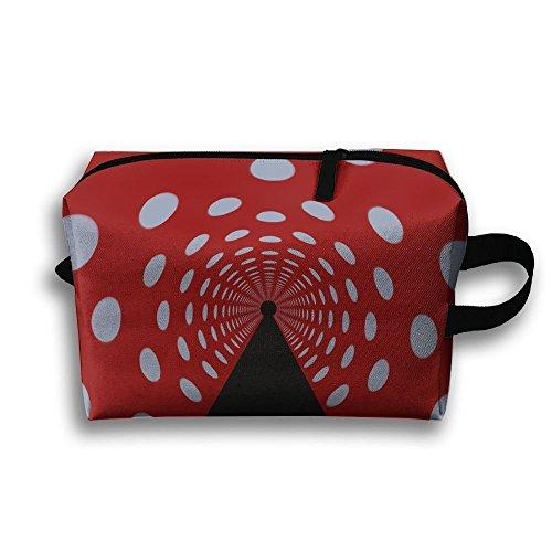 Swirl Channel Cosmetic Bags Makeup Organizer Bag Pouch Zipper Purse Handbag Clutch Bag