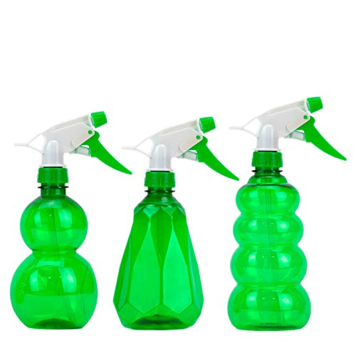 - DecorRack 3 Plastic Spray Bottles 16 oz Small Empty Spray Bottle, Professional Sprayer with Adjustable Nozzle for Cleaning Solutions, Kitchen, Hair, Plants, Leak Proof Fine Clear Mist Bottle (3 Pack)