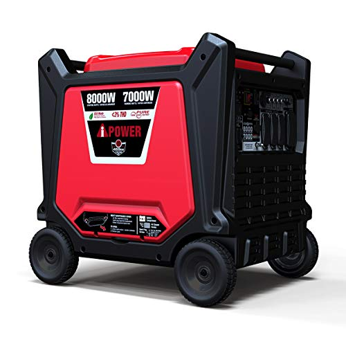 A-iPower SUA8000i_SF Inverter Portable Generator, for Sensitive Equipment