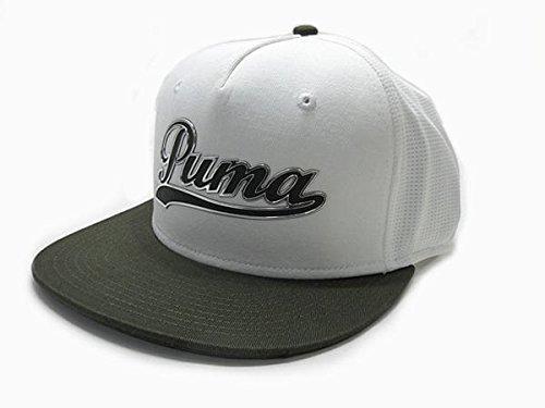 PUMA プーマ Script Snapback スクリプト スナップバック キャップ 052958 09 USA仕様 フォレスト ナイト/プーマホワイト