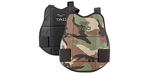 Valken Tactical Chest Reversible Protector, Woodland/Black Camouflage by Valken Tactical