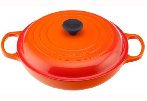 Le Creuset Signature Enameled Cast-Iron 5-Quart Round Braiser, - Enameled Cast Qt Iron 5