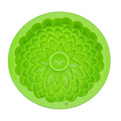 Chrysanthemum Cake Mold Trays 8.6inch Silicone Baking Pan For Mousse Brownie (Chrysanthemum Bundt Pan)