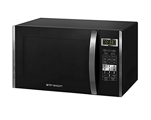 Emerson 1.5 CU. FT. 1000W Convection Microwave Oven with Grill Touch Control Countertop, Stainless Steel and Black Cabinet, MWCG1584SB by Emerson Radio