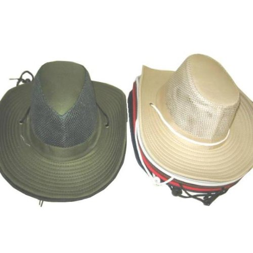 Ddi - Mens Summer Cowboy Hat W / Mesh Upper Panel (1 pack of 72 items) by DDI