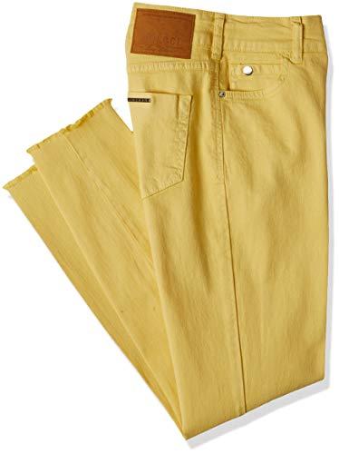 Calça de sarja Bia, Colcci, Feminino, Amarelo (Amarelo Augustin), 42