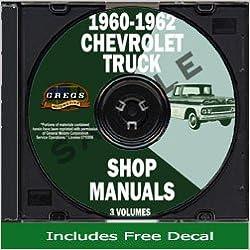 1962 c10 pickup wiring diagram 1960 1962 chevy chevrolet truck repair shop service manual cd gm  1960 1962 chevy chevrolet truck repair