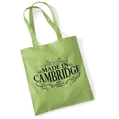 Made Gifts Kiwi Tote Cotton Shopper Cambridge For Bag Women Printed in Bags qxtTB
