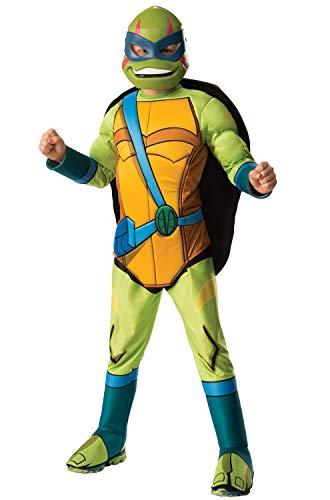 Rubie's Child's Rise Of The Teenage Mutant Ninja Turtles Deluxe Costume, Leonardo, Small]()