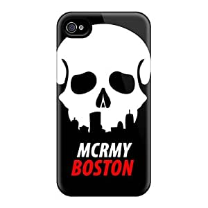 Scratch Protection Hard Phone Cover For Iphone 4/4s With Allow Personal Design Attractive My Chemical Romance Band Image RitaSokul