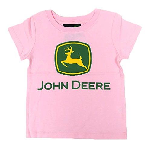 "JOHN DEERE ""CLASSIC LOGO"" INFANTS & TODDLERS PINK T-SHIRT (2T)"
