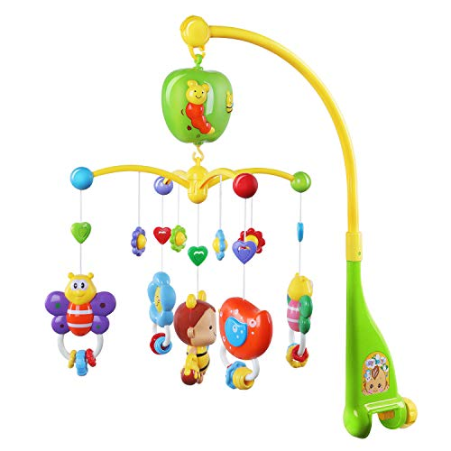 GrowthPic Musical Mobile Baby Crib Mobile with Hanging Rotating Toys and Music Box