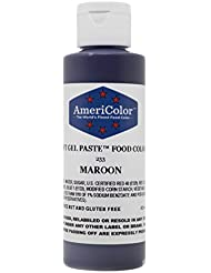 AmeriColor Food Coloring, Maroon Soft Gel Paste, 4.5 Ounce