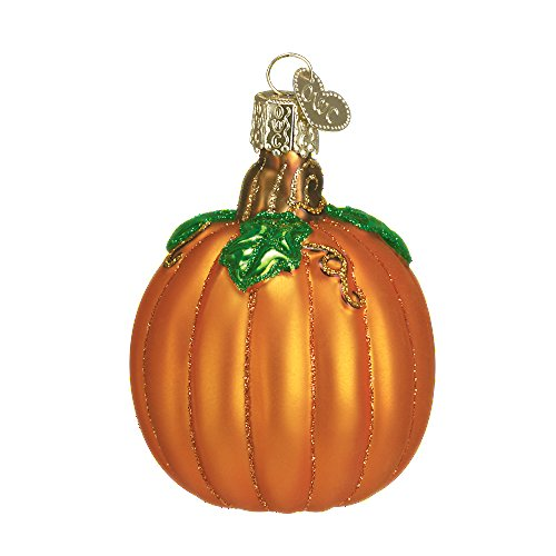 Old World Christmas Halloween Themed Glass Blown Ornaments (Pumpkin)]()