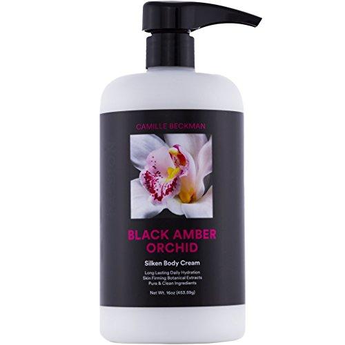 Camille Beckman Silken Body Cream, Black Amber Orchid, 16 (Orchid Body Cream)