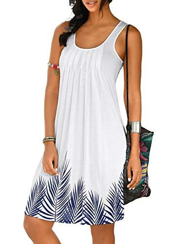 Pencil Dress for Women,Women Summer Sleeveless Evening Party Beach Dress Short Dress, White