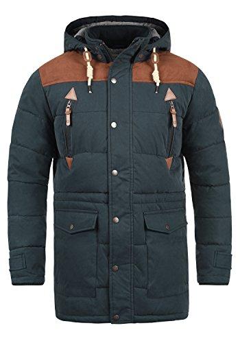 Hombre Invierno Insignia 1991 Long Dry Jacket SOLID Blue Chaqueta de para f0CqxBn