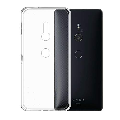 Sony Xperia XZ3 Case, TopACE TPU Rubber Gel Shock-Absorption Bumper Anti-Scratch Transparent Silicone Cover for Sony Xperia XZ3 (Clear)