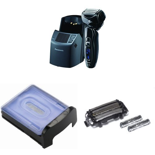 (Panasonic Arc4 Electric Razor ES-LA93-K with Automatic Cleaning Solution and Inner/Outer Replacement Blades Included)
