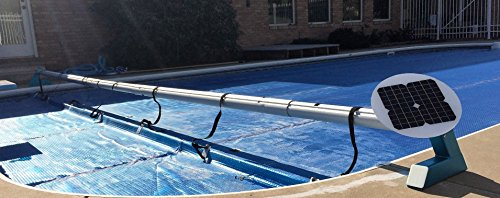 Automatic Solar Pool Covers (Automatic Remote Controlled Solar Battery Powered Solar Blanket Reel System up to 20 feet)