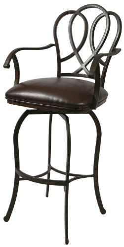 Pastel Furniture OX-217-30-AR-945 Oxford Swivel Barstool with Arms, 30-Inch, Autumn Rust and Ford - Oxford 30 Stool Bar