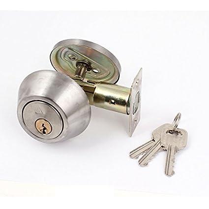 Acero inoxidable solo cilindro Cerrojo con llave la puerta ...