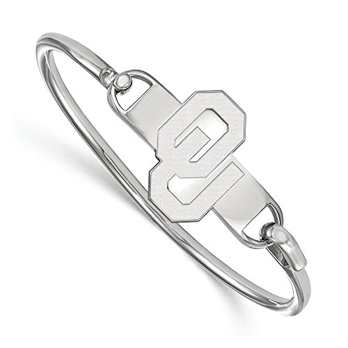 NCAA Sterling Silver University of Oklahoma Bangle, 6 inch by LogoArt