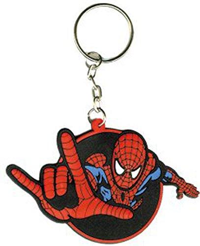 3d Rubber Key Chain - Spiderman Spidey Power