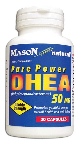 Vitamines Mason DHEA 50 mg Capsules, 30-Count Bouteilles (pack de 3)