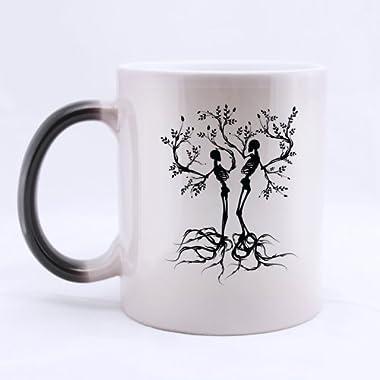 Cool A Couple Skull Tree Art 11 Ounces Custom Morphing Mugs