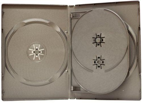 10 STANDARD Black Quad 4 Disc DVD Cases