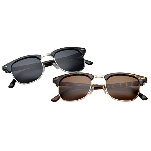 grinderPUNCH - Polarized Hamilton Premium Club Half Frame Sunglasses 2 - Jfk Sunglasses