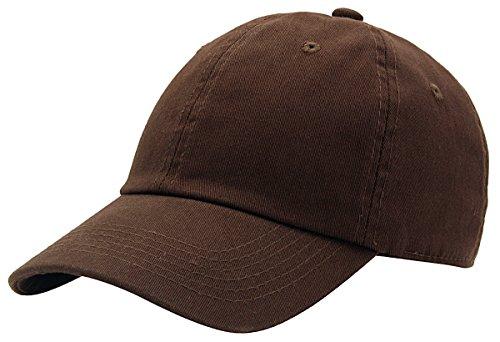 AZTRONA Baseball Cap for Men Women - 100% Cotton Classic Dad Hat, DBR Dark Brown ()