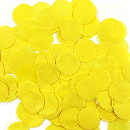 ALLYDREW Round Tissue Paper Confetti 1 Circle Confetti (Yellow)
