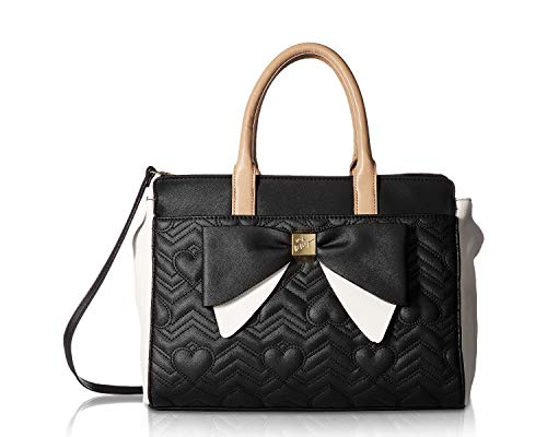 8c1bead0ac8c Betsey Johnson Women's Dip Satchel Black/Taupe One for sale Delivered  anywhere in USA