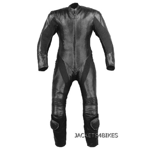 1PC WOMENS MOTORCYCLE LEATHER RACING 1PC SUIT BLACK M