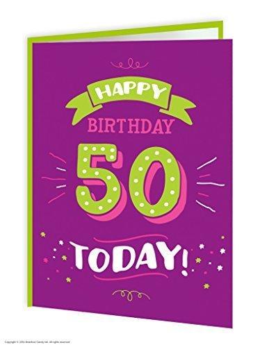 50th cumpleaños tarjeta de felicitación: Amazon.es: Oficina ...