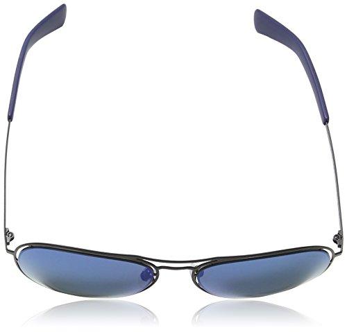... Police - Lunette de soleil S8960 Offside 3 Aviator SEMI-MATT BLACK  FRAME   BLUE 9b6ed5c400ff