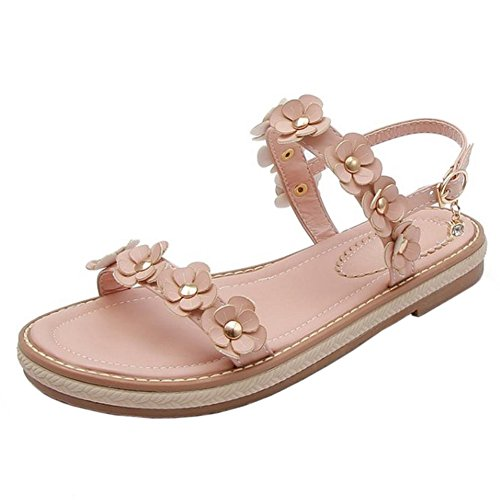 Coolcept Women Open Toe Sandals Flats Pink-43 K3LDB