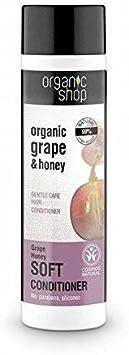 ORGANIC SHOP - Acondicionador Capillar para hecho aceite de Semilla de Uva y Miel - Cabello fuerte y grueso - Compuesto por ingredientes naturales - 280 ml