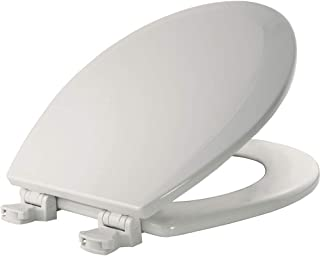 product image for BEMIS 500EC 000 Toilet Seat with Easy Clean & Change Hinges, ROUND, Durable Enameled Wood, White