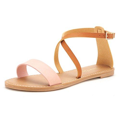 DREAM PAIRS CROX New Women Valcre Open Toe Fashion Crisscross Valcre Women Ankle Straps Summer Design Flat Sandals B01N5RINRB Parent 4924f3