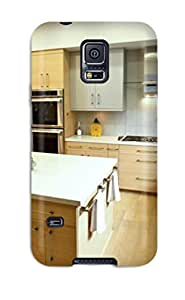 Durable Defender Case For Galaxy S5 Tpu Cover(modern Gourmet Kitchen With Prep Sink And Large Island)